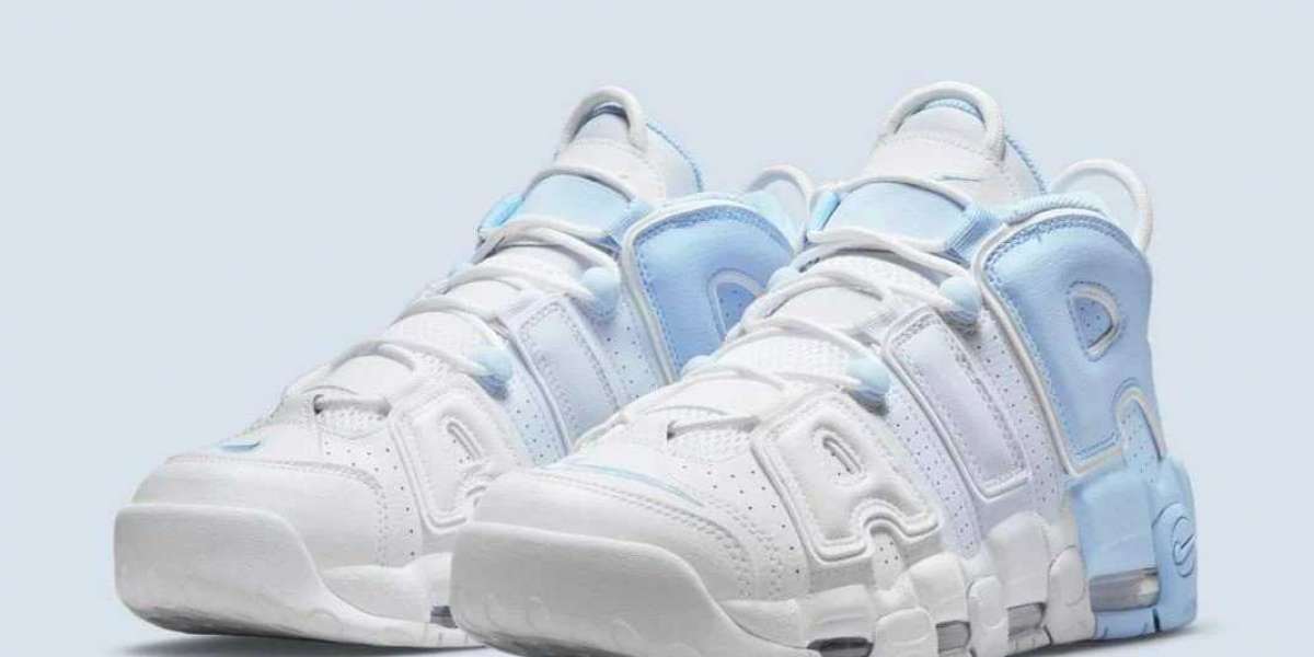 """Nike Air More Uptempo debuts in the """"sky blue"""" color scheme, reminiscent of the OG color scheme"""